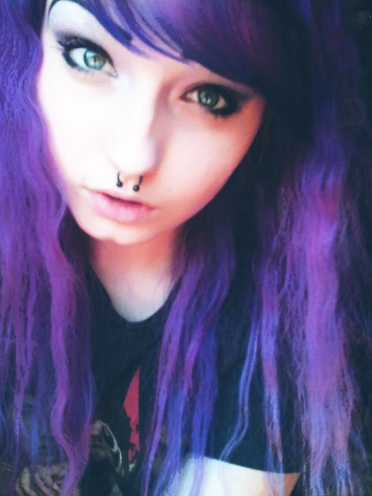 Crimped Purple Hair